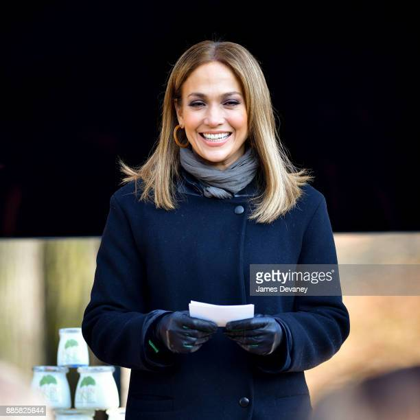 Jennifer Lopez seen on location for 'Second Act' in Central Park on December 4 2017 in New York City