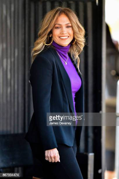 Jennifer Lopez seen on location for 'Second Act' in Queens on October 27 2017 in New York City