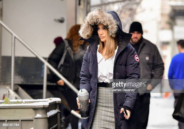 Jennifer Lopez seen on location for 'Second Act' in SoHo on December 14 2017 in New York City
