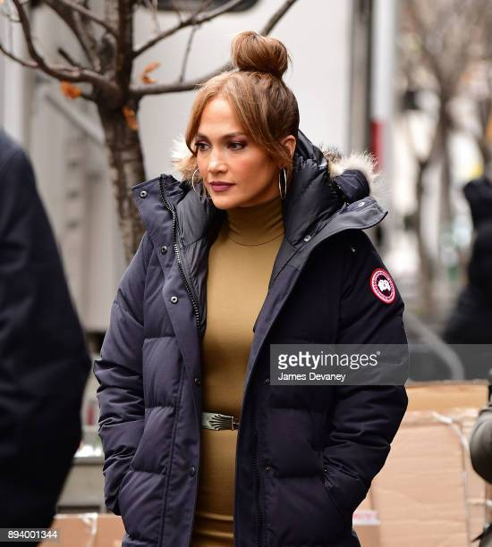 Jennifer Lopez seen on location for 'Second Act' in SoHo on December 15 2017 in New York City
