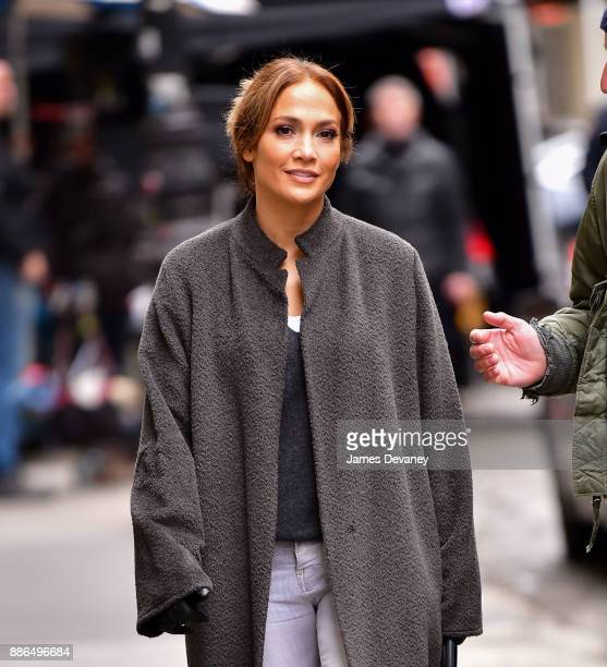 Jennifer Lopez seen on location for 'Second Act' in SoHo on December 5 2017 in New York City
