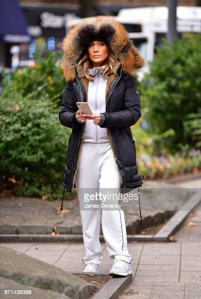 Jennifer Lopez seen on location for 'Second Act' in Woodside on November 7 2017 in New York City