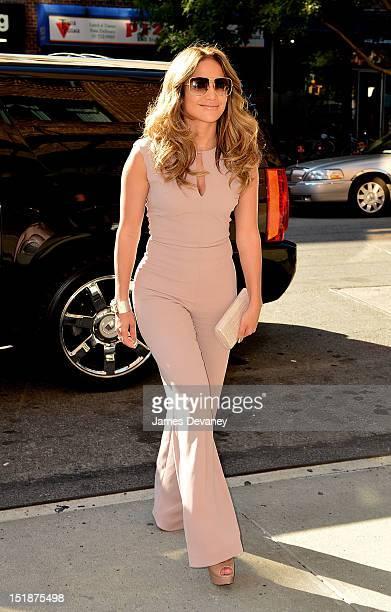 Jennifer Lopez seen on the streets of Manhattan on September 12, 2012 in New York City.