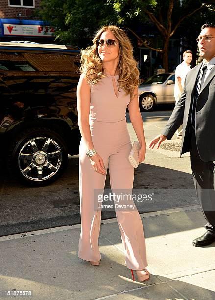 Jennifer Lopez seen on the streets of Manhattan on September 12 2012 in New York City