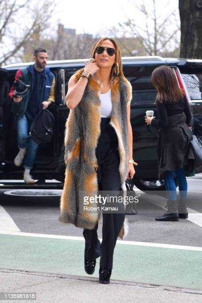 Jennifer Lopez seen out and about in Manhattan on April 9 2019 in New York City