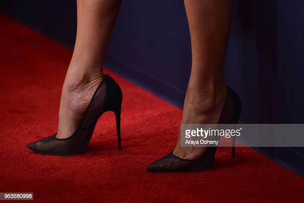 Jennifer Lopez shoe detail attends FYC Event For NBC's World Of Dance at Saban Media Center on May 1 2018 in North Hollywood California