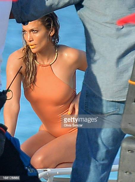 Jennifer Lopez shoots a video on May 5 2013 in Fort Lauderdale Florida