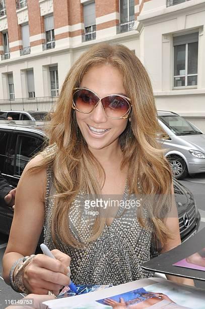 Jennifer Lopez sighting at NRJ Radio on June 14 2011 in Paris France