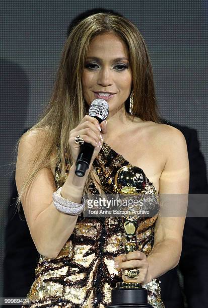 Jennifer Lopez speaks on stage during the World Music Awards 2010 at the Sporting Club on May 18 2010 in Monte Carlo Monaco