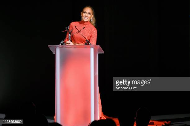 Jennifer Lopez speaks onstage during the CFDA Fashion Awards at the Brooklyn Museum of Art on June 03, 2019 in New York City.