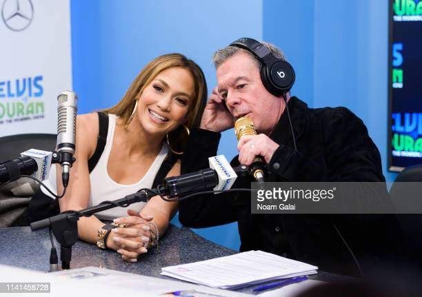 Jennifer Lopez speaks with Elvis Duran at The Elvis Duran Z100 Morning Show at the Z100 Studio on April 09 2019 in New York City