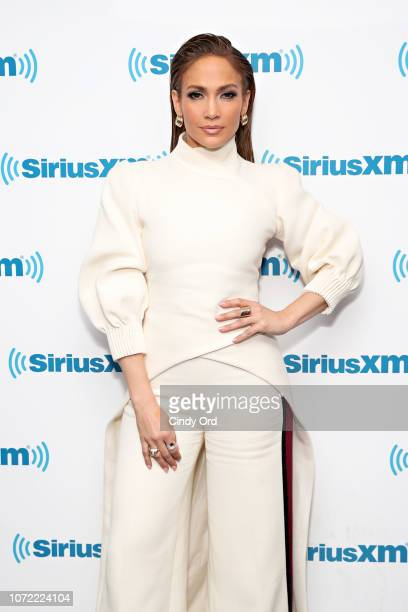 Jennifer Lopez takes part in SiriusXM's Town Hall with the cast of 'Second Act' hosted by Andy Cohen at SiriusXM Studios on December 12, 2018 in New...