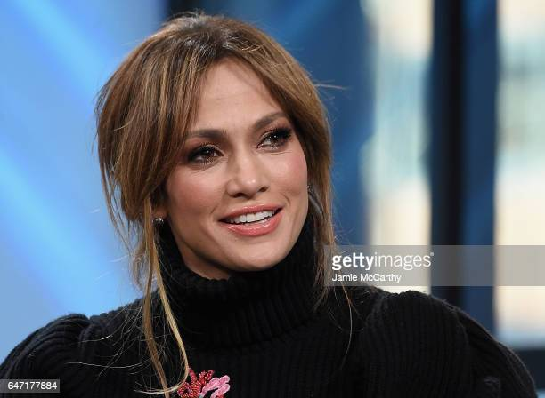 Jennifer Lopez visits the Build Series Presents Jennifer Lopez And Ray Liotta Discussing 'Shades Of Blue' at Build Studio on March 2 2017 in New York...
