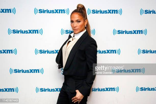 Jennifer Lopez visits 'The Morning Mash Up' on SiriusXM Hits 1 Channel at the SiriusXM Studios on April 03, 2019 in New York City.