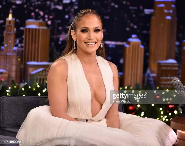Jennifer Lopez Visits The Tonight Show Starring Jimmy Fallon on December 11 2018 in New York City