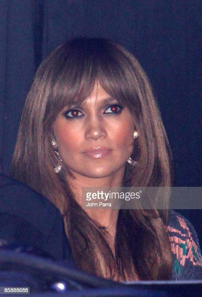 Jennifer Lopez watches her husband Marc Anthony perform at Seminole Hard Rock Hotel and Casino on April 9, 2009 in Hollywood, Florida.
