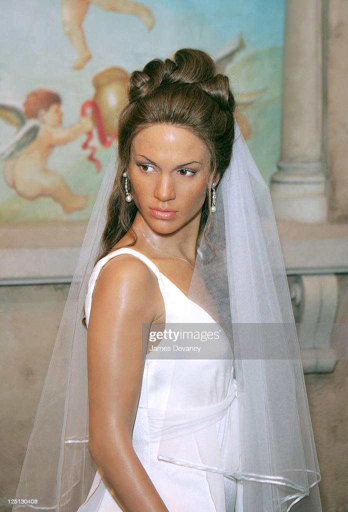 Jennifer Lopez Wax Figure Wearing Wedding Dress - June 11, 2004 : News Photo
