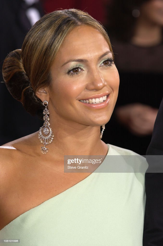 Jennifer Lopez wearing Fred Leighton jewels during The 75th Annual Academy Awards - Arrivals at The Kodak Theater in Hollywood, California, United States.