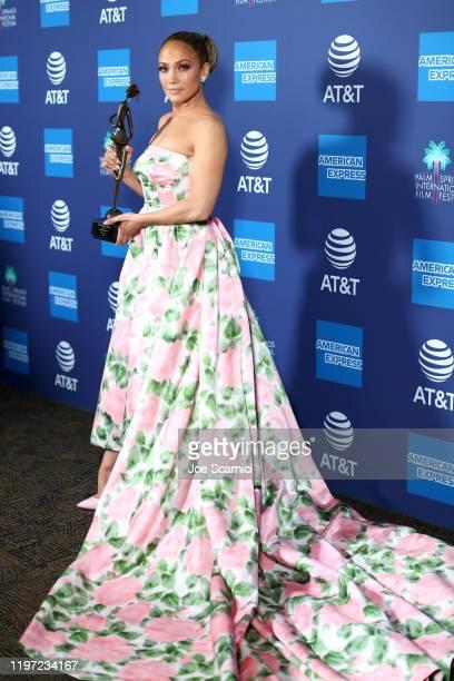 Jennifer Lopez winner of the Spotlight Award attends the 31st Annual Palm Springs International Film Festival Film Awards Gala at Palm Springs...