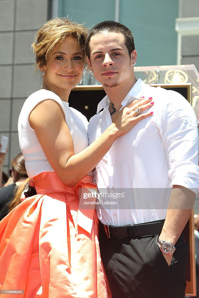 Jennifer Lopez with her boyfriend Casper Smart, is honored with the 2500th star on the Hollywood Walk of Fame on June 20, 2013 in Hollywood, California.
