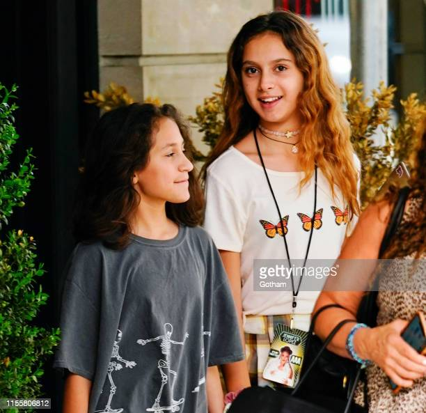 Jennifer Lopez's children Max and Emme are seen on the way to her rescheduled concert on July 15 2019 in New York City