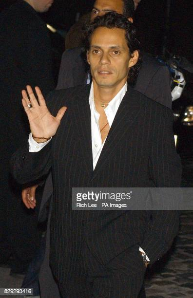 Jennifer Lopez's husband singer Marc Anthony arrives at world renowned beauty company Coty's 100th Anniversary Celebration at the American Museum of...