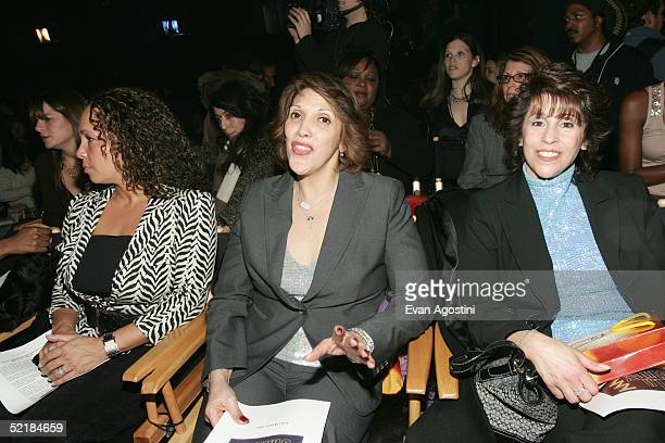 Jennifer Lopez's mother Lupe attends the Jennifer Lopez Fall 2005 show during the Olympus Fashion Week in Bryant Park February 11 2005 in New York...