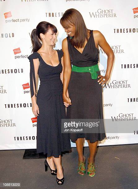 Jennifer Love Hewitt and Aisha Tyler during Ghost Whisperer and Threshold Premiere Screenings at The Hollywood Forever Cementary in Hollywood...