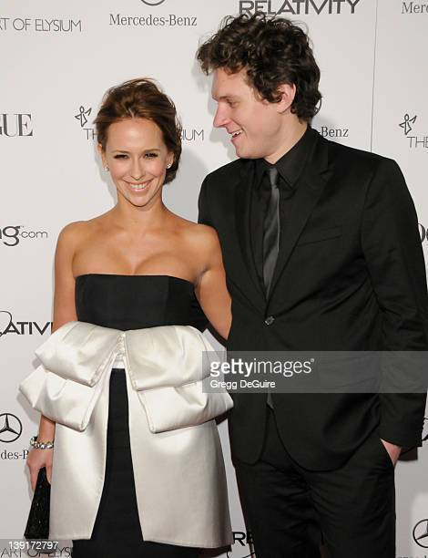 """Jennifer Love Hewitt and Alex Beh arrive at The Art Of Elysium's 4th Annual Black Tie Charity Gala """"Heaven"""" at The Annenberg Building at the..."""