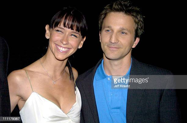 Jennifer Love Hewitt and Breckin Meyer during ShoWest 2004 Fox Searchlight Pictures Arrivals at Bally's Paris Hotel in Las Vegas Nevada United States