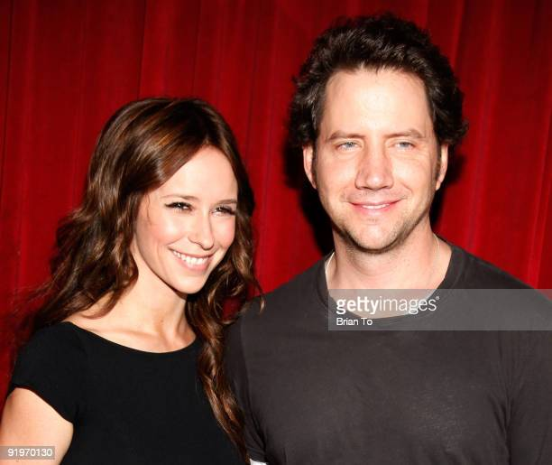 Jennifer Love Hewitt and Jamie Kennedy attend Children's Institute Hosts 'Poker For A Cause' Celebrity Poker Tournament at Commerce Casino on October...