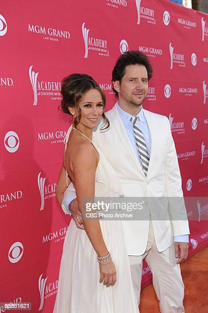 Jennifer Love Hewitt and Jamie Kennedy of the CBS series Ghost Whisperer on the the orange carpet prior to the 44th Annual Academy of Country Music...