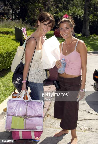 Jennifer Love Hewitt and Melissa Lemer during the Silver Spoon Beauty Buffet Sponsored By Allure Day One Photo by L Cohen/WireImage for Silver Spoon