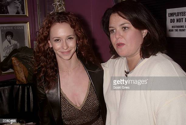 Jennifer Love Hewitt and Rosie O'Donnell during the party for Rosie's first appearance in Broadway's new musical 'Seussical' at Don't Tell Mama in...