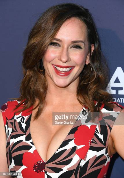 Jennifer Love Hewitt arrives at the FOX Summer TCA 2018 AllStar Party at Soho House on August 2 2018 in West Hollywood California