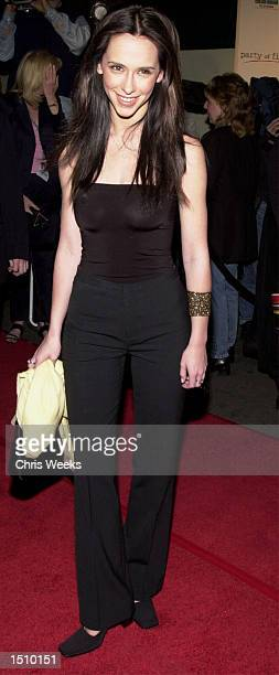 Jennifer Love Hewitt arrives at the series finale wrap party for Party of Five April 6 2000 at The Sunset Room in Hollywood Ca