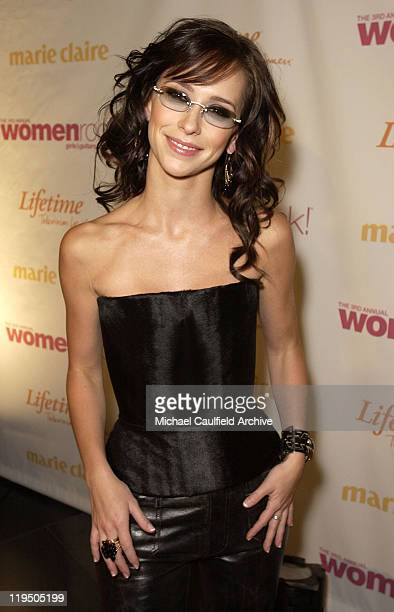 Jennifer Love Hewitt arrives at 'Women Rock Girls and Guitars' airing on the Lifetime Television Network October 25th 2002 at 10 pm