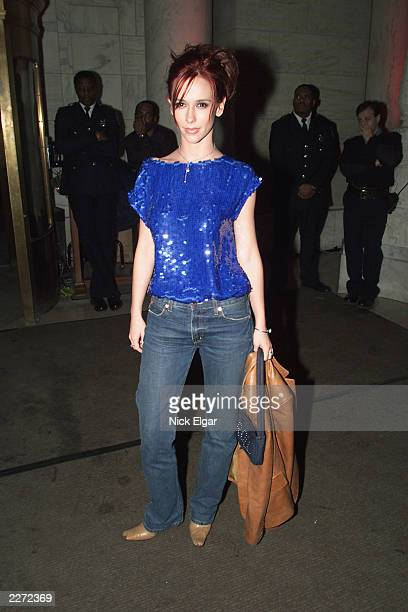 Jennifer Love Hewitt at the post premiere party for the movie 'Hannibal' at the New York Public Library New York City Monday February 06 2001 Photo...