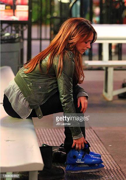 Jennifer Love Hewitt attends the Disney On Ice Presents Pixar's Toy Story 3 at Nokia Plaza LA LIVE on December 14 2011 in Los Angeles California