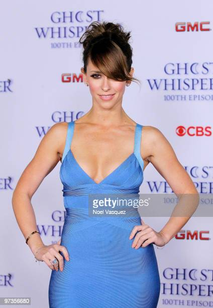 Jennifer Love Hewitt attends the Ghost Whisperer 100th episode celebration at XIV on March 1 2010 in West Hollywood California