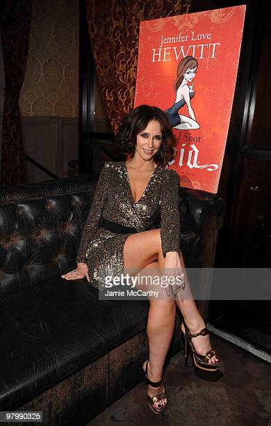 NEW YORK MARCH 23 *EXCLUSIVE* Jennifer Love Hewitt celebrates the launch of her first book The Day I Shot Cupid at Avenue on March 23 2010 in New...