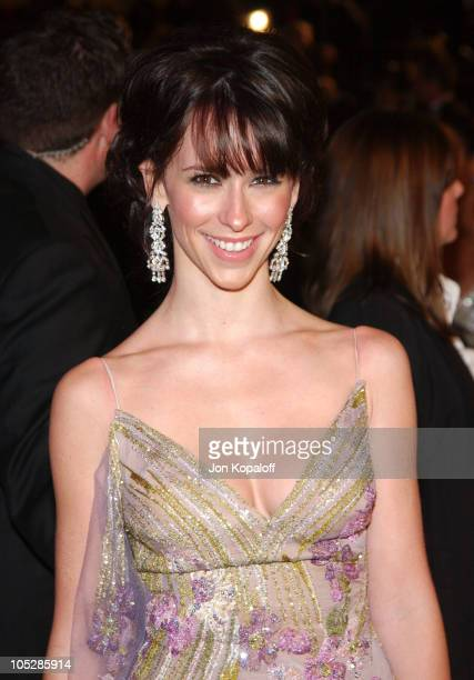 Jennifer Love Hewitt during 2004 Vanity Fair Oscar Party at Mortons in Beverly Hills California United States
