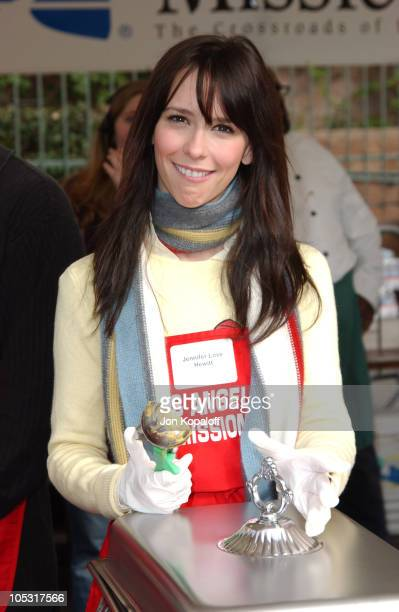 Jennifer Love Hewitt during Celebrities Help Bring Christmas To Families of Skid Row at The Los Angeles Mission in Los Angeles California United...
