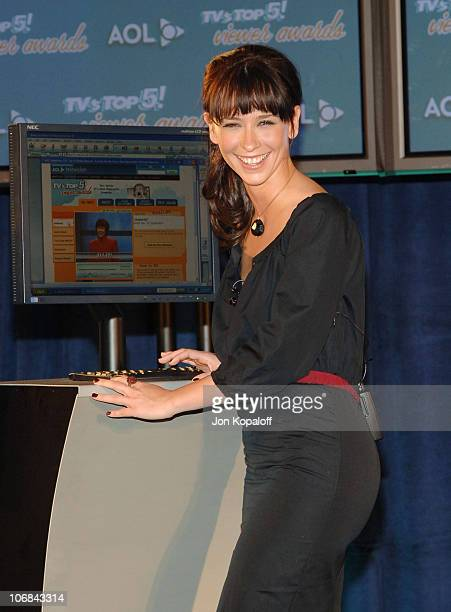 Jennifer Love Hewitt during Jennifer Love Hewitt Announces the Nominees for the '2005 TV's TOP 5 Viewer Awards' at The Beverly Hilton Hotel in...