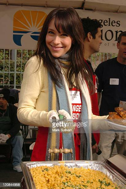Jennifer Love Hewitt during Los Angeles Mission Christmas Party at Los Angeles Mission in Los Angeles California United States