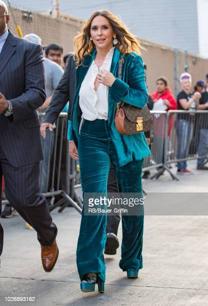 Jennifer Love Hewitt is seen at 'Jimmy Kimmel Live' on September 04 2018 in Los Angeles California