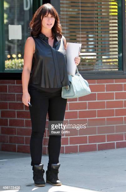 Jennifer Love Hewitt runs errands in Hollywood on September 13 2013 in Los Angeles California
