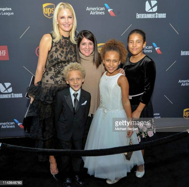 Jennifer Lucas and children attend Byron Allen Honored by Los Angeles Urban League on April 18 2019 in Hollywood California