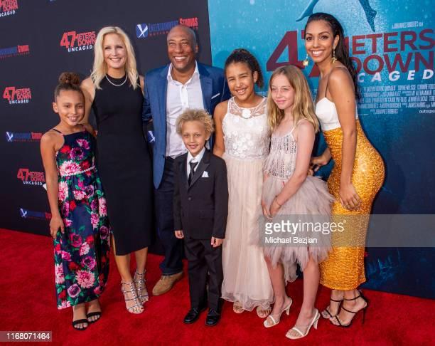 Jennifer Lucas Byron Allen Corinne Foxx attend the LA Premiere of 47 Meters Down UNCAGED on August 13 2019 in Los Angeles California