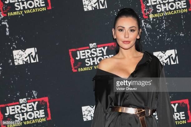 "Jennifer Lynn ""Jenni"" Farley aka JWoww attends the Jersey Shore family vacation premiere party at Museo Casa de la Bola on April 6, 2018 in Mexico..."